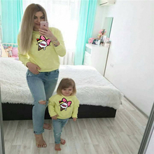 hot deal buy mum and baby daughter clothes matching shirts for family clothing mama mom mother and baby girl blouses 2 styles