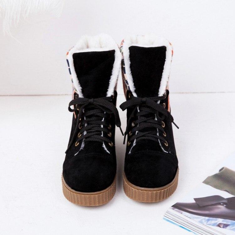 Grande taille 9 10 11 12 bottes femmes chaussures bottines pour femmes dames bottes croix reliure pour correspondre aux couleurs