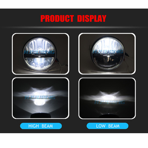 Image 4 - for Lada 4x4 urban Niva Defender 4x4 off road Front Light Round Headlights 7 inch Headlamp Offroad LED Head Driving Light Lamp
