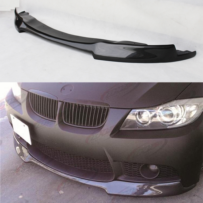 V Style Carbon Fiber Front Bumper Lip Diffuser spoiler For BMW e90 M3 Bumper 2005~2008 отсутствует современная конкуренция 2 44 2014
