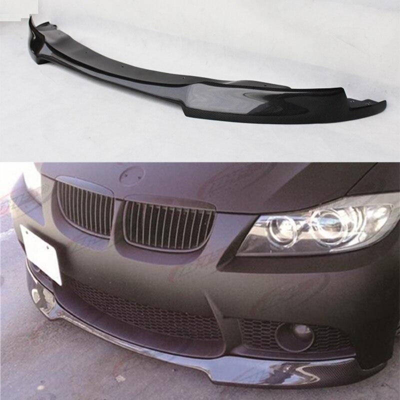 V Style Carbon Fiber Front Bumper Lip Diffuser spoiler For BMW e90 M3 Bumper 2005~2008