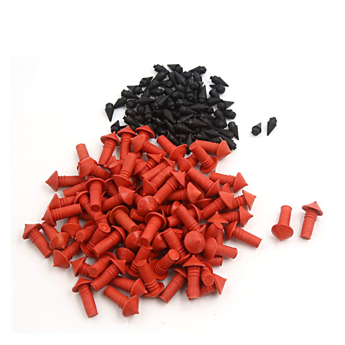 Uxcell  170Pcs Universal Mushroom Shaped Tire Repair Insert Plugs Red Black 7mm, 170 Pack
