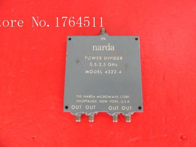 [BELLA] Narda 4322-4 0.5-2.5GHz RF coaxial four a divider SMA