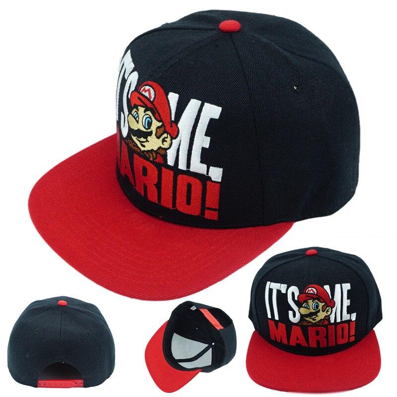 1e07c8f3a31 Game Super Mario Bros Hat Trucker Baseball Snapback Caps Hip Hop ...