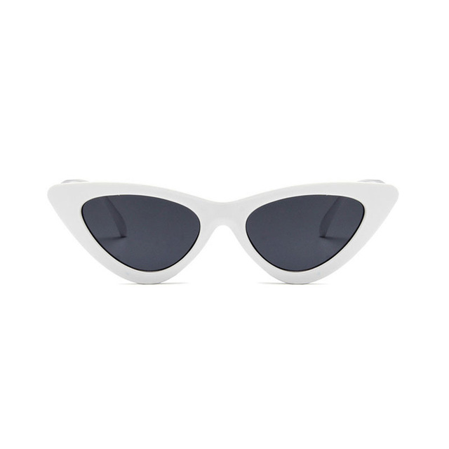 08d4f919541fae Cute SexyRetro Cat s Eye Sunglasses Women Small Black White 2018 Triangle  Vintage Cheap Sun Glasses Red