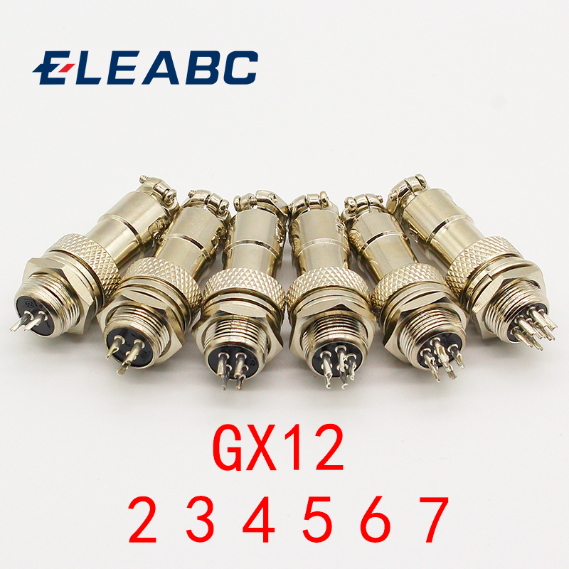 High Quality 12mm Wire Panel Connector  GX12  Male/&Female Aviation Socket Plug
