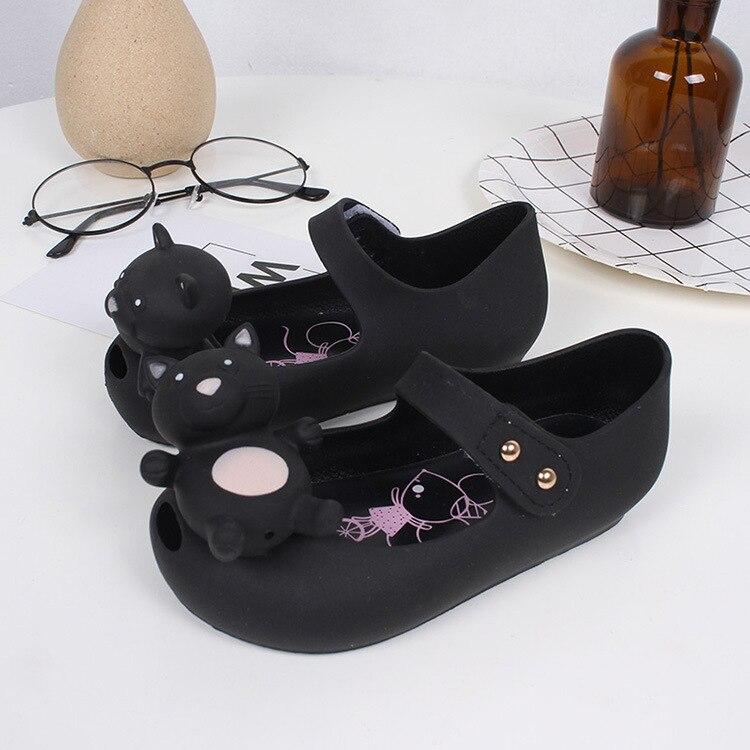 Mini Melissa Cute Bear Crystal Jelly Shoes 2018 New Girls Sandals Jelly Shoes Mini Melissa Shoes Sapato Infantil Menina
