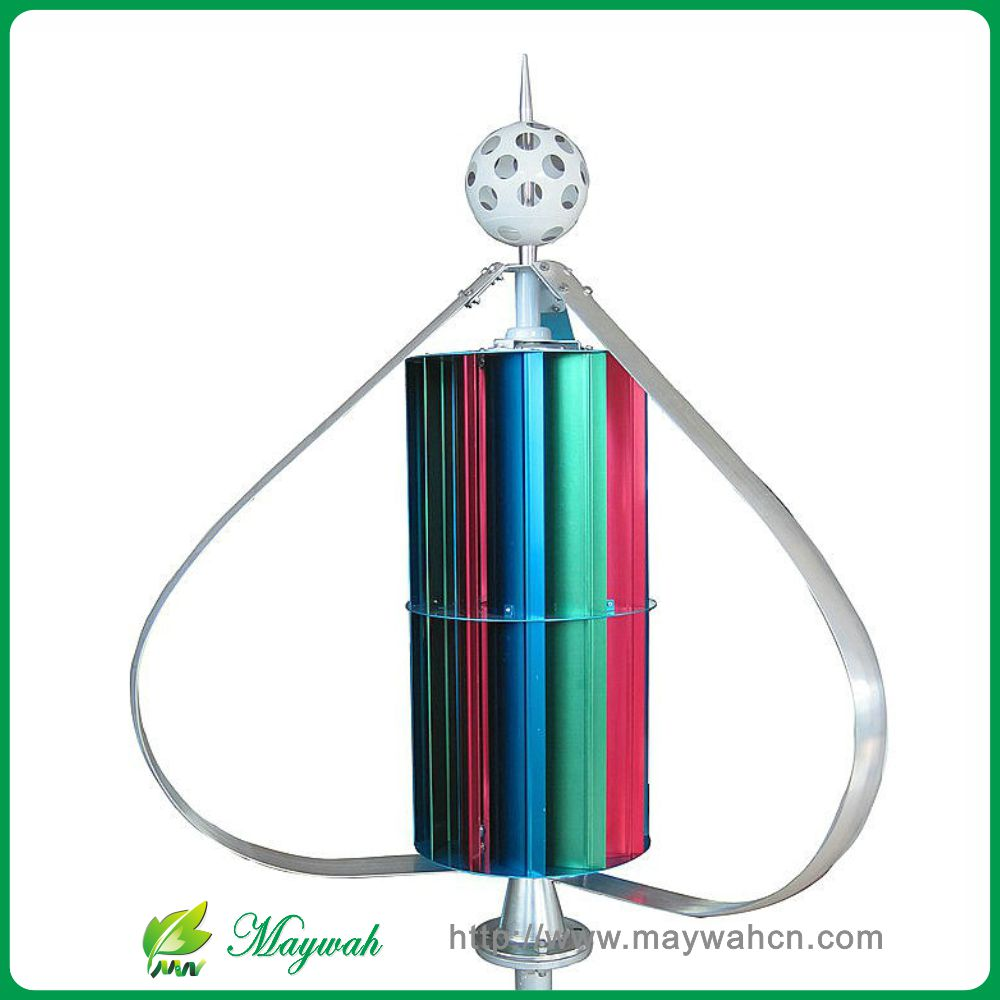 MAYLAR@ 12V/24V400W High Efficiency Vertical Wind Turbine Generator Low Start Wind Speed ,Dantian 12 leaf outer 3 leaf