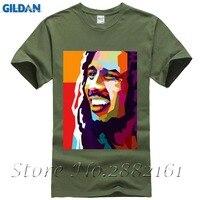 2017 Mais Recente T-Shirt Bob Marley Jamaica Raggae Música Legal som da Alma de Um Projeto do Amor Branco T-Shirt Tops de Hip Hop Tees