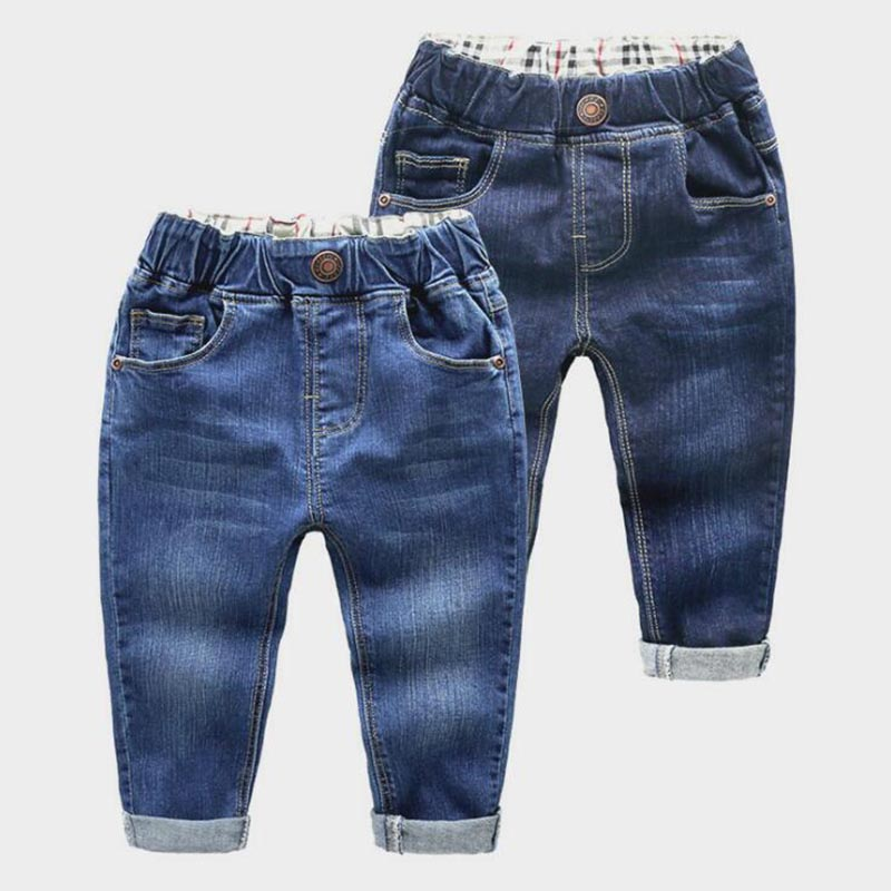 Kids Jeans Pants Toddler Girls Boys Denim Casual Fashion for 2-6Y High-Quality Holes