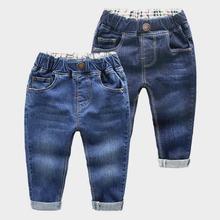 2018 wiosna dzieci dżinsy chłopcy dziewczęta modna z dziurami dżinsy dzieci dżinsy dla chłopców casualowe spodnie jeansowe 2-6Y maluch wysokiej jakości tanie tanio Elastyczny pas ExactlyFZ Pasuje prawda na wymiar weź swój normalny rozmiar REGULAR light DARK Stałe Na co dzień