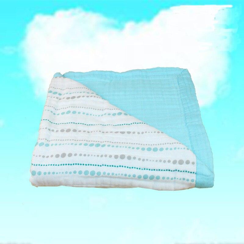 Adamant aden anais mousseline bébé couverture bambou Fiber nouveau-né bain voyage serviette swaddle chaîne Aden Anais couette épaississement 8 Lay