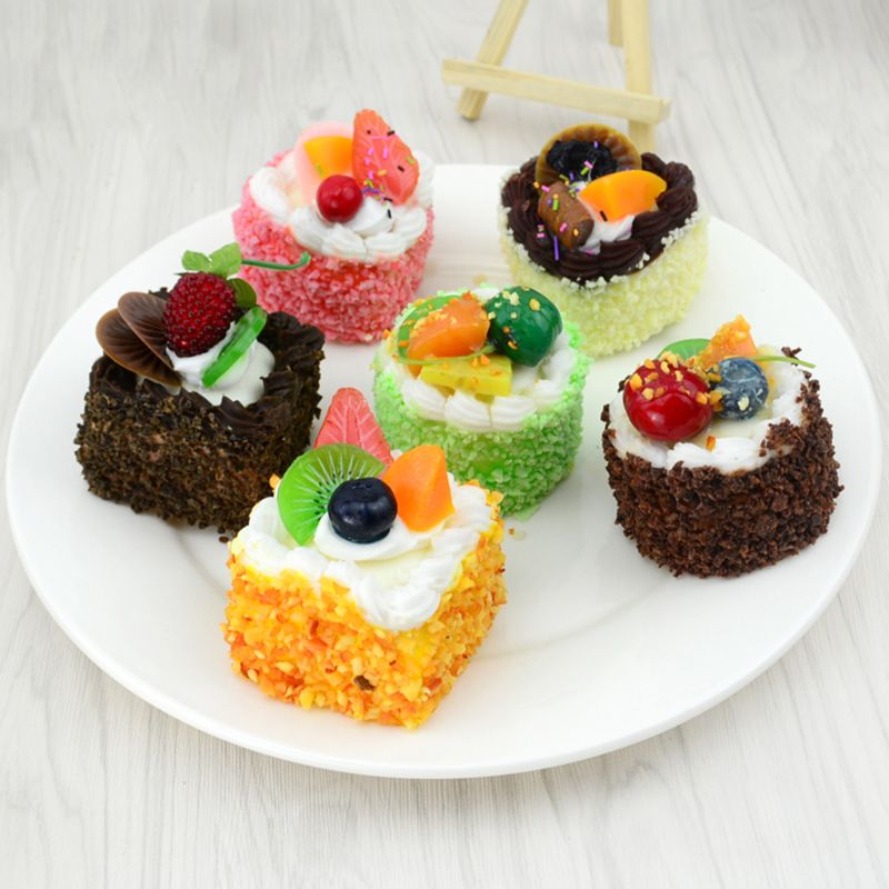 Artificial Simulation Cake Model Fake Food PU Educational Toys Kitchen Photography Props Home Decoration