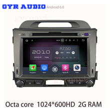 Android 6.0 octa Core GPS DVD del coche para kia sportage R 2011-2015 con 1024*600 2 GB ram RDS Radios Navi estéreo WiFi 4G DVR USB