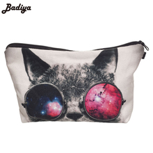 New Arrival Travel Party Makeup Bag Women Cosmetic Bag 3D Cat Printing Organizer Maleta de Maquiagem Fashion Necessaire Bags