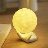 2 шт. 3D печати Уникальный Moon Light Touch Управление зарядка через usb безэлектродного затемнением 20 см