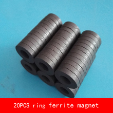 20PCS D16*3mm hole 7mm work temperature -40 to +220 Celsius ring ferrite magnet for speaker цена 2017
