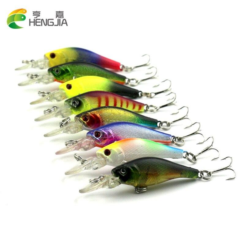 8pcs/lot Deep Minnow Fishing Lure Mini Hard Isca Artificial Bait 6.3cm 4g Fishing Wobblers Crankbait Fishing Tackle