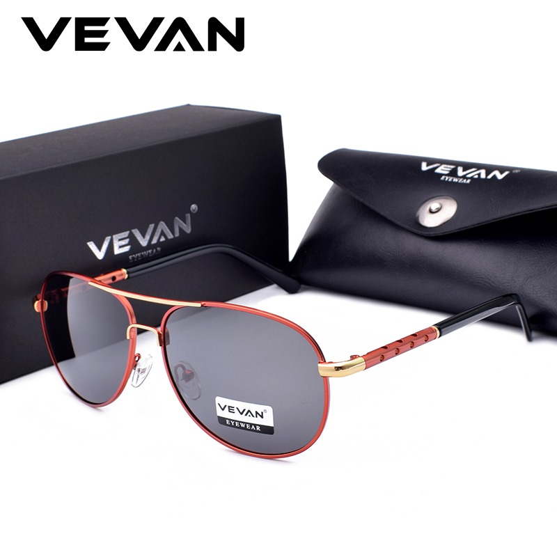 9aaeb6e8f7 VEVAN 2018 High Quality Classic Pilot Polarized Sunglasses Men UV400 Luxury  Brand Driving Sun Glasses oculos