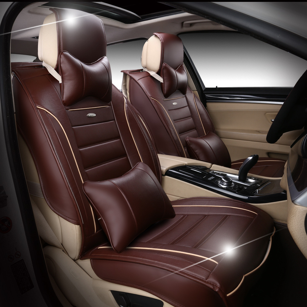 Universal Artificial Leather Car Seat Cover For 5 Seats