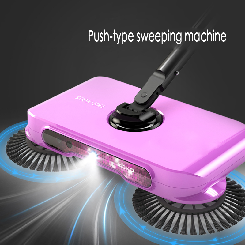Mop broom 360 Rotary Magic Manual Telescopic Floor Dust Sweeper Handle Household Cleaning Tool(China)