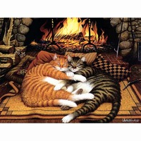 Frameless Painting By Numbers Cats Pattern DIY Digital Oil Drawing By Numbers Abstract Wall Art Picture