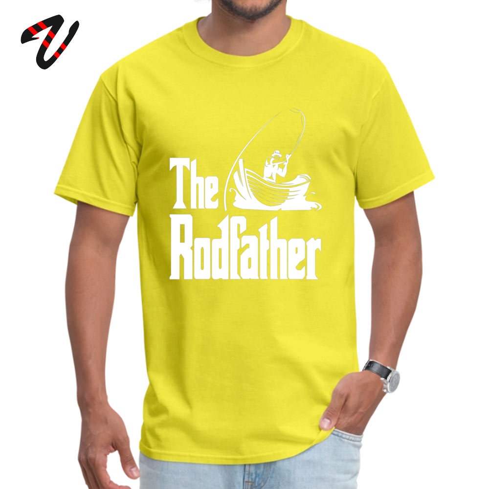 Mens Company Tops T Shirt Round Collar Summer Fall 100% Cotton Fabric T Shirt Customized The Rodfather (white) Tops T Shirt The Rodfather (white)  -24293 yellow
