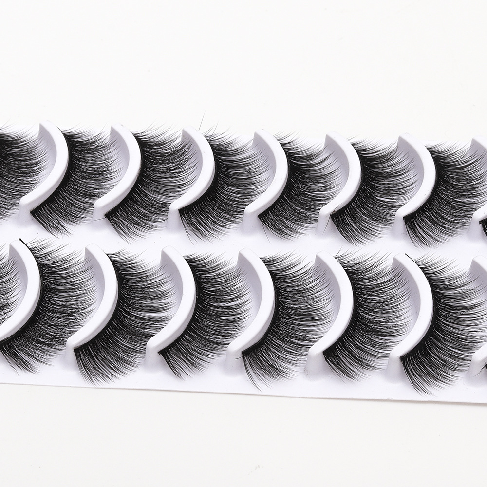 2018 New 10 pairs natural false eyelashes fake lashes long ...