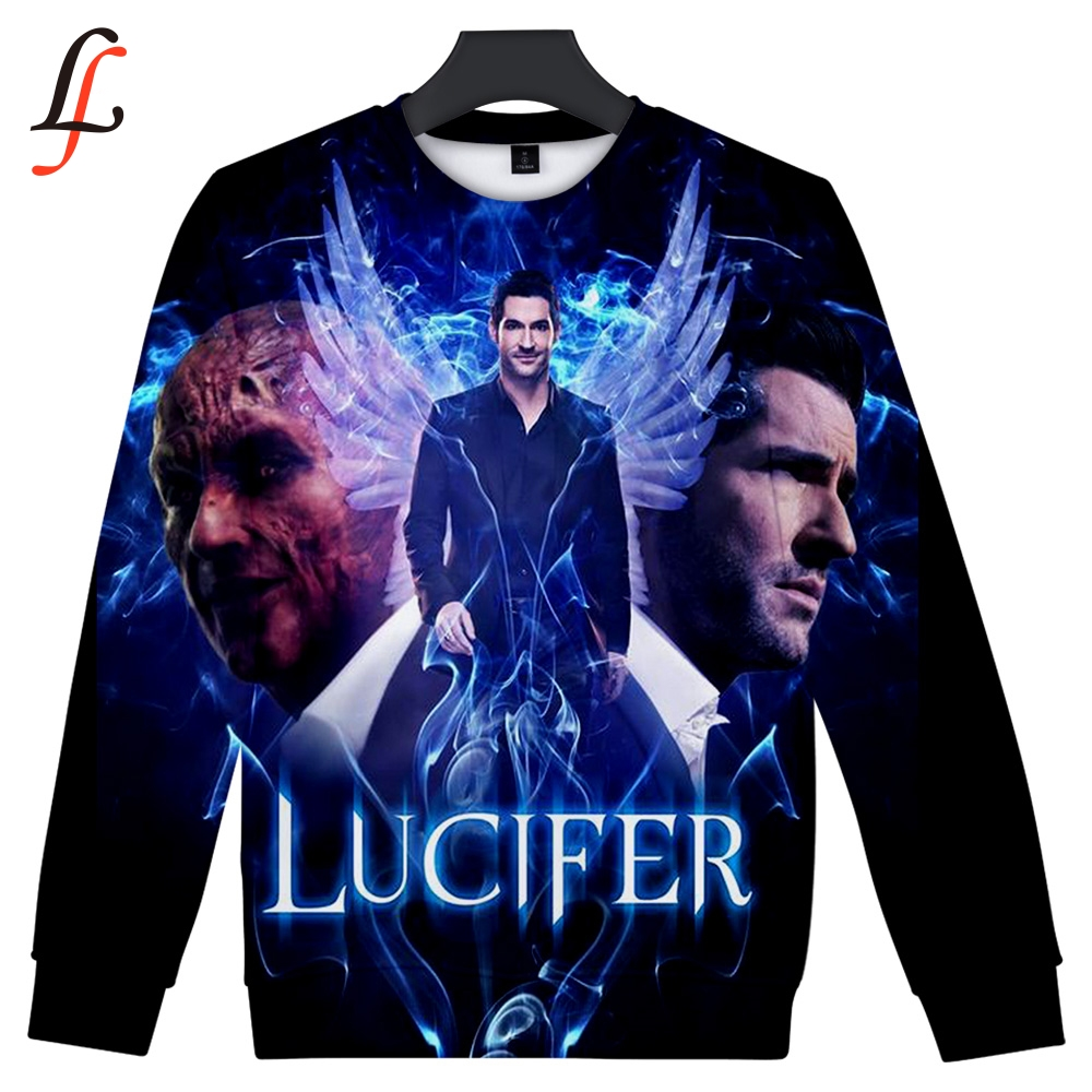 Lucifer 3D Print Software 2019 New Sweatshirt Harajuku Style Women/Men Popular Clothes Casual Hot Sale Sweatshirts Plus Size 4XL image