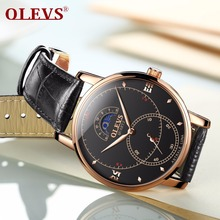 OLEVS Watch Men High Quality Leather Strap Quartz Wristwatch Relogio masculino Mens watches top brand luxury women watches Clock high quality luxury top brand fashion casual brown crystal leather strap men watch women watch quartz wristwatch