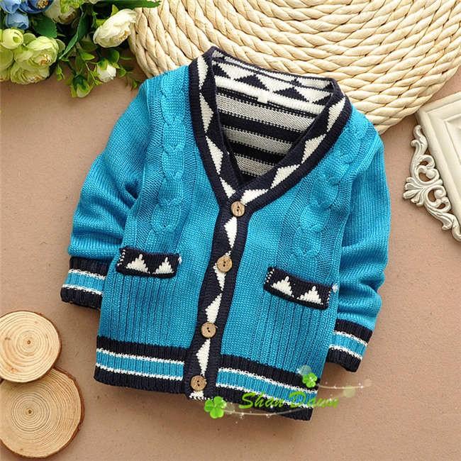 2016 Autumnwinter Baby Knit Cardigans Sweatersbaby Boys Fashion