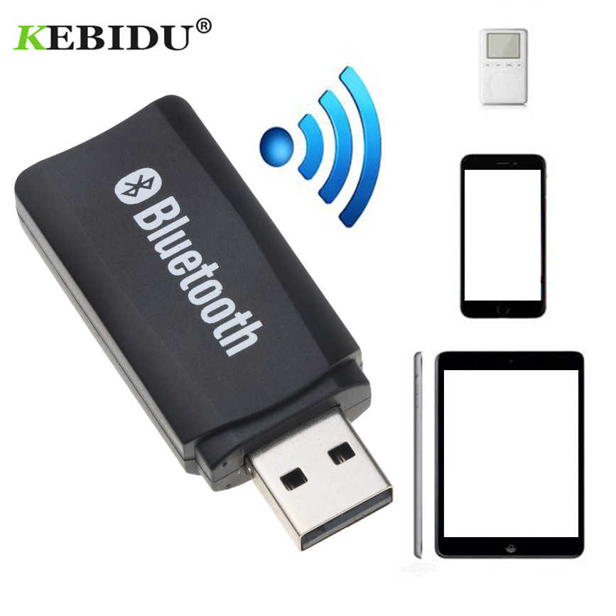 Kebidu USB Bluetooth récepteur AUX adaptateur sans fil musique stéréo Audio Portable pour iPhone Samsung Xiaomi Mini Kit de voiture