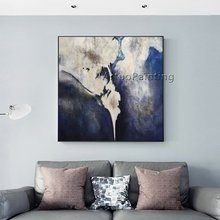 Abstract Oil Painting Nordic Navy Blue Acrylic Wall Art Canvas Pictures for Living Room Decor Cuadros Decoracion Quadros