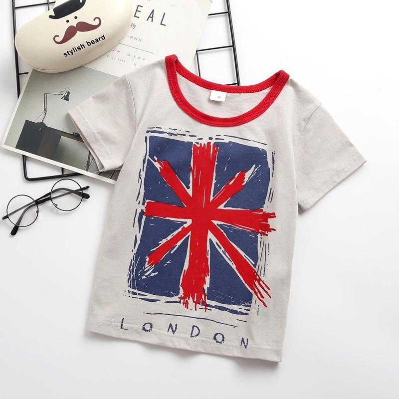Girl T-Shirt Tees Tops Short-Sleeve Toddler Baby-Boy Kids Cotton Children Casual Cartoon