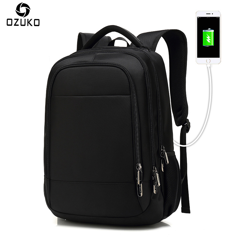 OZUKO ordinateurs portables d'entreprise sac à dos hommes USB charge multifonction voyage Mochila décontracté étanche cartable pour filles et garçons