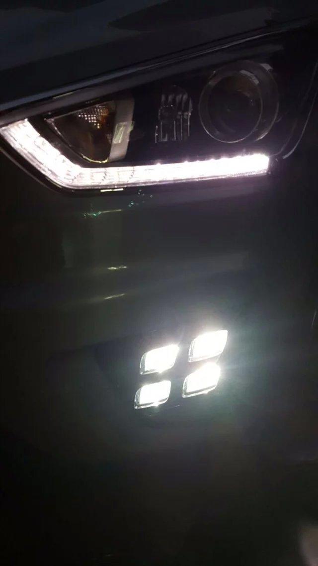 LED DRL daytime running light top quality driving light fog lamp for Hyundai IX25 novel design fast shipping