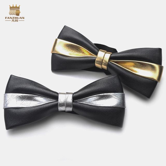 FanZhuan Nova Frete Grátis moda casual masculino dos homens Jóia Dos Homens Casuais todo o jogo laço cor de ouro e prata 500001 promoção