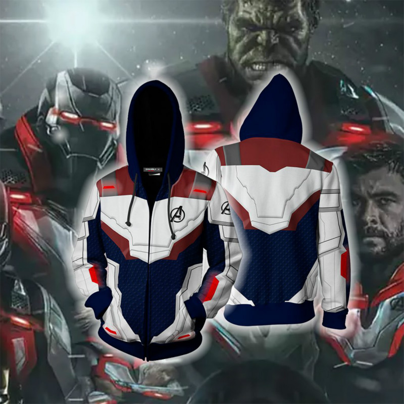 Movie The Avengers 4 Endgame Quantum War Dress Cosplay Costume 3D Printed Sweatershirt Hoodie Jacket Hip Hop Costume