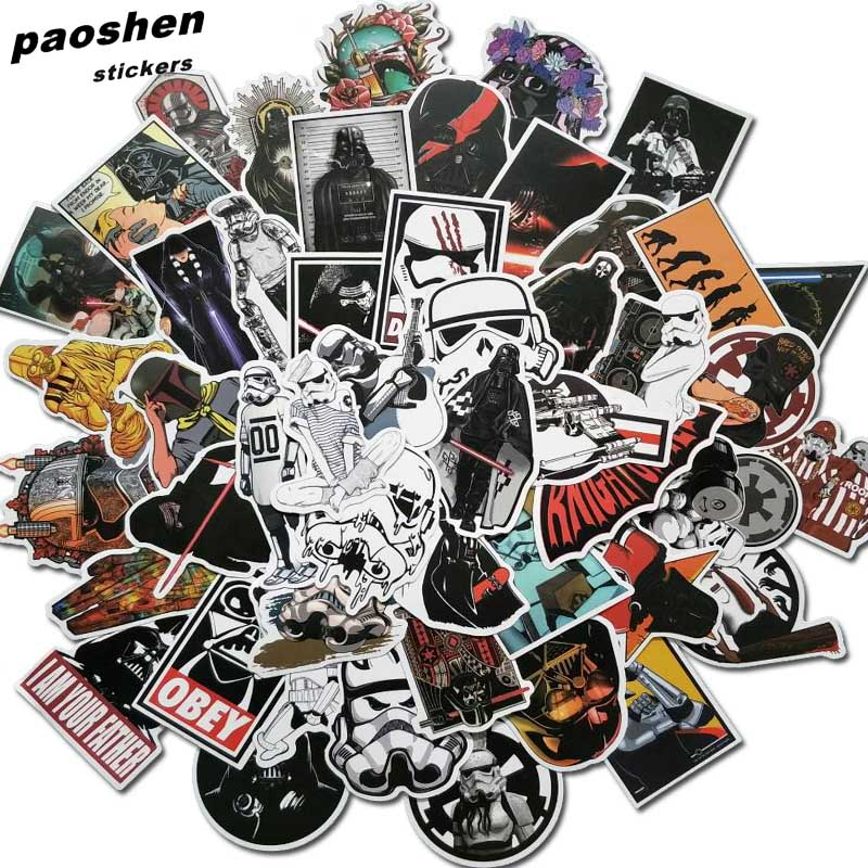 50Pcs Star Wars Stickers For Kids DIY Creative Graffiti Sticker For Skateboard Luggage Laptop Guitar Fridge Car Doodle Decal