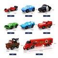 8 unids/set mc queen pixar cars diecast escala del metal modle rc car toys for children