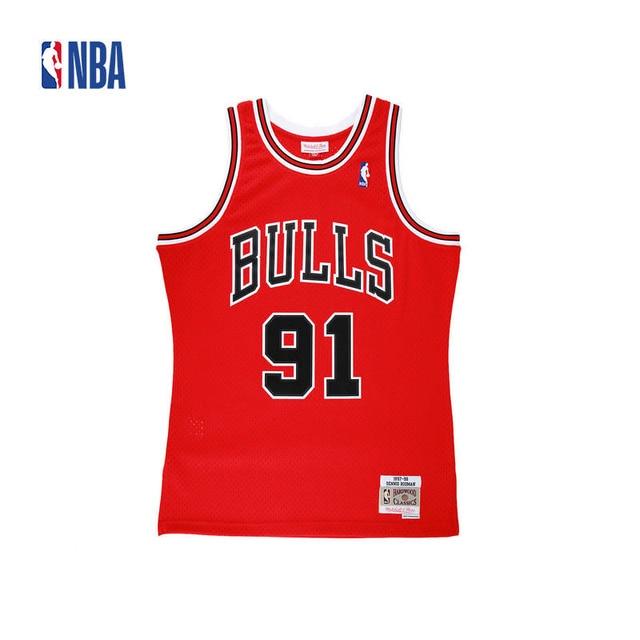 42ef67edb52 Original NBA Jerseys Number 91 M&N SWINGMAN Retro Jerseys Chicago Bulls  Dennis Rodman Men's Breathable Basketball Jerseys