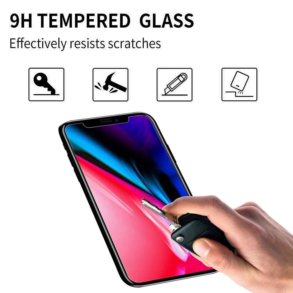 Ascromy For Apple iPhone XS Max Premium 9H Tempered Glass Screen Protector For iPhone X S XR 8 7 Plus 6 6S 8plus Protection Film (4)