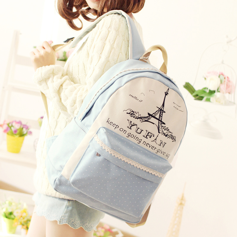2017 Newest Fashion YuFan Brand Fresh Preppy Style Soft Canvas Polyester Backpack Women Backpacks For Teenage