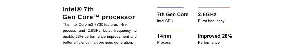 Laptop Teclast F6 Pro 13.3inch Windows 10 RAM 8GB 128GB SSD Intel Core m3-7Y30 Dual Core Front Camera English keyboard notebook