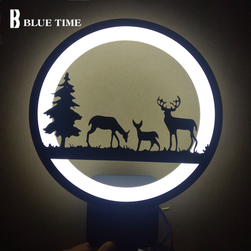 Black Modern Led Wall Lamp 12W Sconce Wall Light For Bedroom Bathroom Living Room Study Room Dining Room Led Lustres bobo bird l b08 bamboo wooden watches for men women casual wood dial face 2035 quartz watch silicone strap extra band as gift