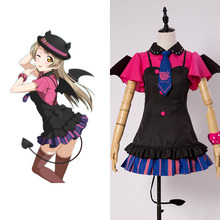 Love Live New SR Kotori Minami Little Demon Uniform Bracer Dress Hat Shirt Skirt Stockings Tie
