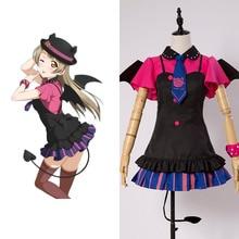 Love Live!New SR Kotori Minami Little Demon Uniform Bracer+Dress+Hat+Shirt+Skirt+Stockings+Tie Halloween Cosplay Costume Dress