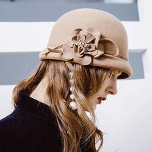 Здесь можно купить   Female Banquet Fashion Headwear Lady Party Formal Cloche Hat Women Winter 100% Wool Felt Hats Apparel Accessories