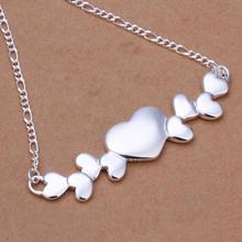 Ожерелья Подвески Колье Цепи 925 Покрытием Серебряные Ювелирные Изделия Алфавита Милая Леди Индивидуальность Форме Сердца Skyrim Colar
