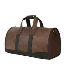 ROCKCOW Genuine Leather Travel Bag Men's Leather Luggage Travel Bag Duffle Bag Weekender Bag DZ03